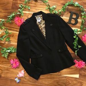 Anne Klein Blazer Jacket 4 Classic Black Military